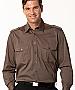 Khaki Shirts with Epaulette Shirts and Logo embroidery