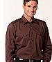 Mocha Shirts with Epaulette Shirts and Logo embroidery
