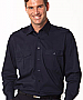 Navy Shirts with Epaulette Shirts and Logo embroidery