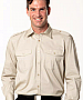 Sand Shirts with Epaulette Shirts and Logo embroidery