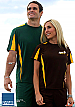 Sports t-shirts in Brown and gold colours