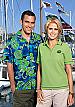 Hibiscus Green Hawaiian Shirts