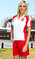 Aussie Pacific Murray #1300 Polo Shirts  White and Red