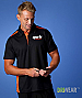 Paterson Polo Shirt #1305 Black and Orange for Work Uniform