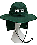 Green Sun Hat with Neck Flap