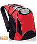Red and Grey Elevation Backpack