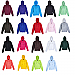 Hoodies in 19 popular team sports colours