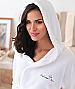 Bath Robe with a hood and custom logo