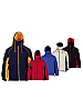 Zip Off Sleeve Jackets-Red, Royal, Sandstone, Navy/Gold