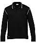 Black and White Long Sleeve Polo with logo service