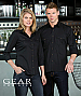 Black shirts with metal look buttons