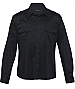 Mens Black shirts with epaulettes and metal look buttons