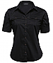 Womens Black shirt with metal look buttons