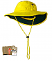 Hi Vis Yellow Work Hats with Wide Brim