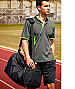 Athlete wearing Green and Lime Polo Shirt