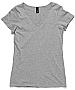 Grey Marle V-Neck T-Shirts with Print Service, Sydney