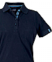 Navy Cotton Polo with Royal and Sky ribbon