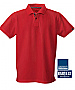Red Cotton Polo with Red and Black ribbon in the neckline