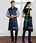 Black Apron with a Green Strap