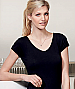 V-Neck T-shirts with elastane stretch