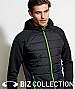 Hoodie with lightly insulated Puffer Chest design