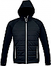 Jacket with Puffer Front and a Hood-Black/Silver