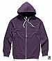 Traction Zip Hoodie 5107-Purple Marle