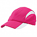 Cool Play Sport Cap  in Pink-White Panels and Logo Embroidery Service