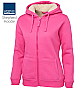 Inspect a Sample for your Staff of the Thick Shepherd Hoodie #3SH1 With Logo Service. Warm chunky shepherd fleece lining. Hot Pink. Good for cold outdoor work requirements. 430gsm bonded jersey