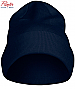 Navy Beanie #2267004 With Logo Service. Available Black, Navy, Red and Steel Grey. Sewn double folded for a thick and stable feeling the only seams are on top. Comes with swing ticket and a small plastic hanger for display. One Size. 100% Acryllic.