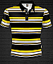 Club Stripe Polo #8296 Design Black-Gold-White