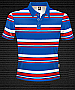 Club Stripe Polo #8296 Design Royal/Red/White