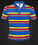Club Stripe Polo #8296 Design Royal/Red/Gold