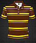 Club Stripe Polo #8296 Design Brown/Gold