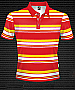 Club Stripe Polo #8296 Design Brown/Gold/White