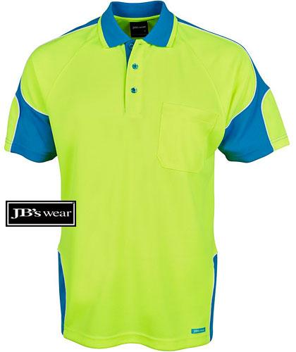 4c746489b Council Workwear-Hi Vis Polos in Aqua-Lime