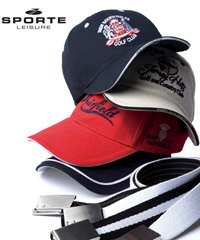 Examples of Sporte Leisure Caps with embroidery