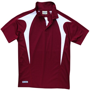 Maroon and White Polo Shirts