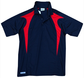 Navy and Red Polo Shirts