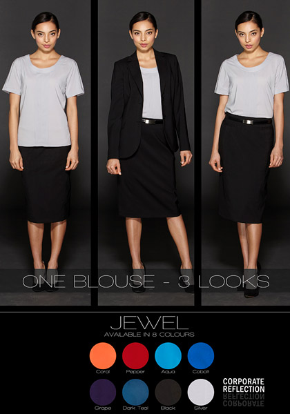Three Looks with Jewel Blouse