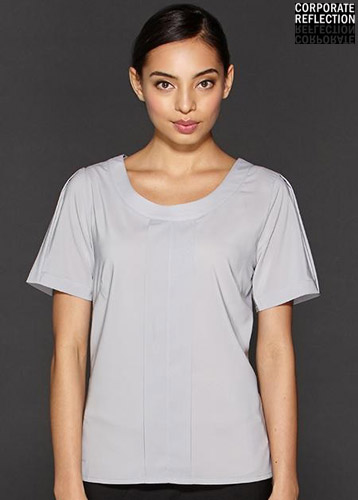 Silver Womens Uniform Top, Corporate