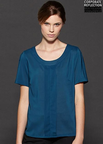 Teal Womens Uniform Top, Corporate
