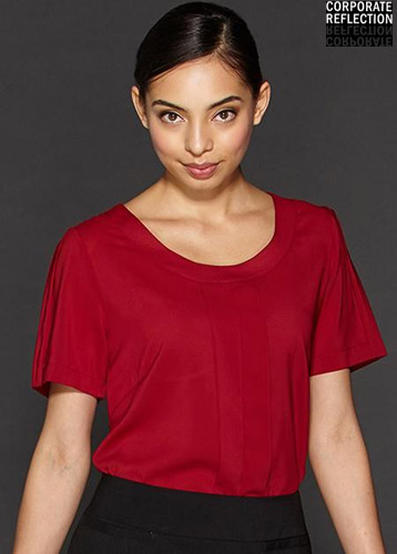 Pepper Red Womens Uniform Top, Corporate