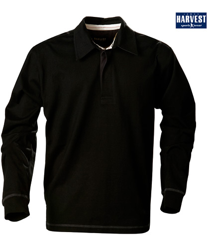Harvest Sportswear Lakeport Rugby shirts-Black