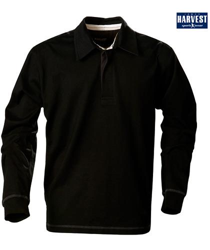 Harvest Sportswear Lakeport Rugby shirts-Black