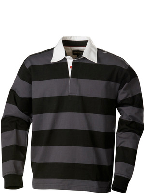 Harvest Sportswear Lakeport Rugby shirts-Black/Grey