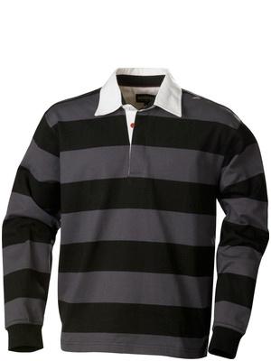 Harvest Sportswear Lakeport Rugby shirts-Black/Grey