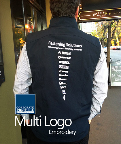 Corporate embroidery for polos business shirts hoodies