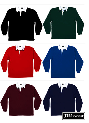 Rugby's-Plain Colours with White collars