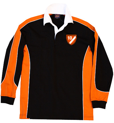Rugby: Black/Orange